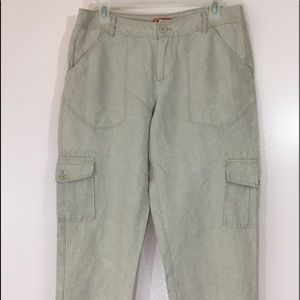 Tommy Bahama Relax Women's Linen Capris Size 8